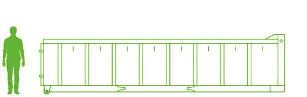 Mittelgroßer Abrollcontainer